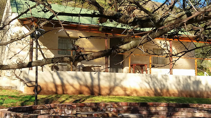 Veranda and porch of Karoo cottage
