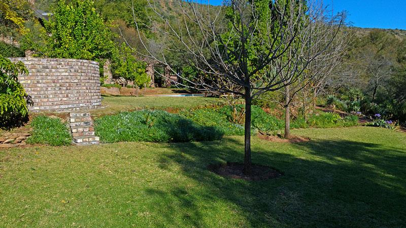 Garden area at De Poort