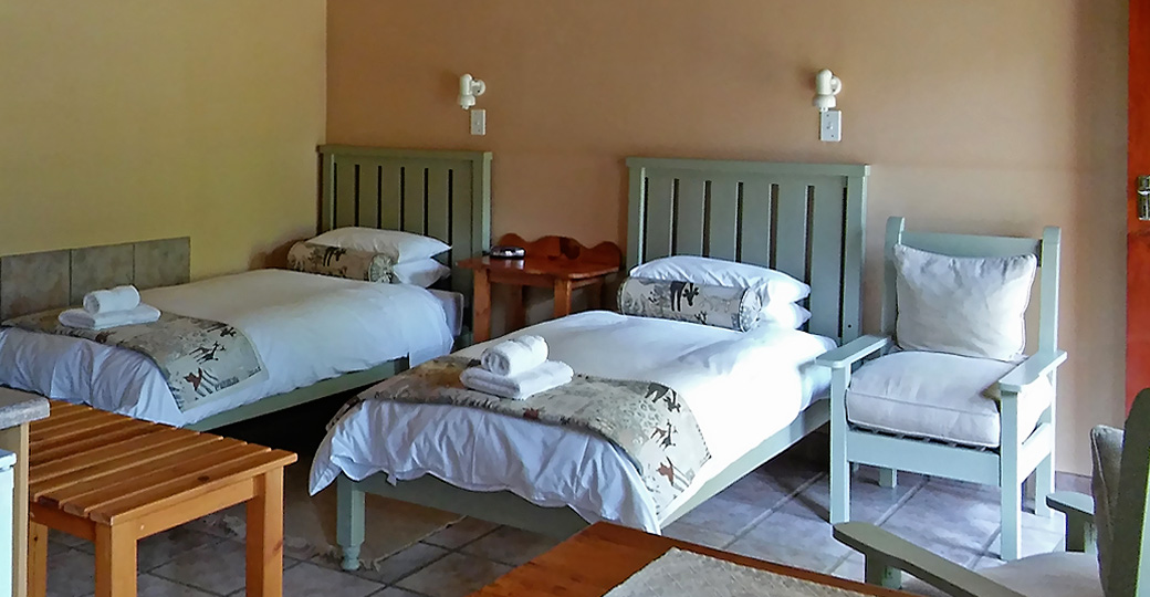 Ground level twin beds
