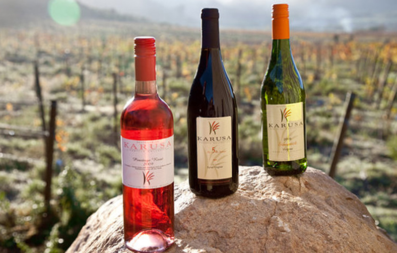 Wines from Karusa just outside Oudtshoorn